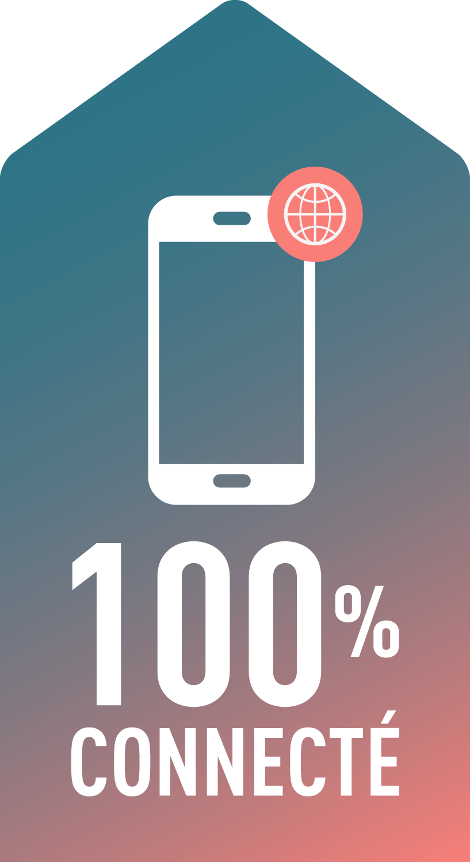 100% connecté